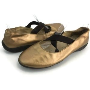 Naturino Women's Gold Mary Jane Ballet Flats